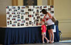Mom and Daughter at Display