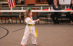 Girl in Karate Uniform