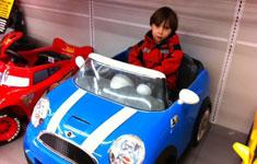 Boy in Race Car