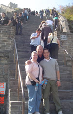 Family at the Great Wall of China