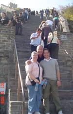 Family at the Great Wall of China