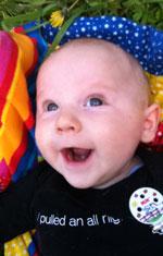 Happy Baby Close Up