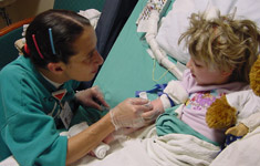 Healthcare Professional and Child