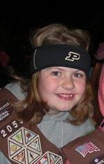 Girl in Brownie Uniform
