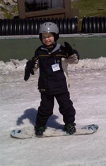 Child snowboarding