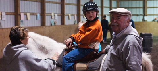 Young child on horseback