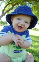 Baby With a Blue Hat