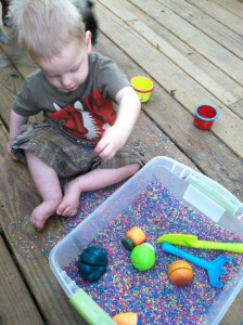 sensory integration rice bin