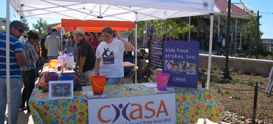 Volunteers at CHASA table