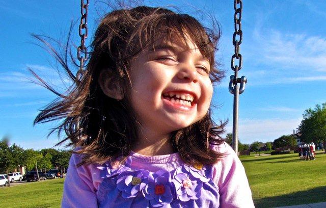 Happy girl with hemiplegia