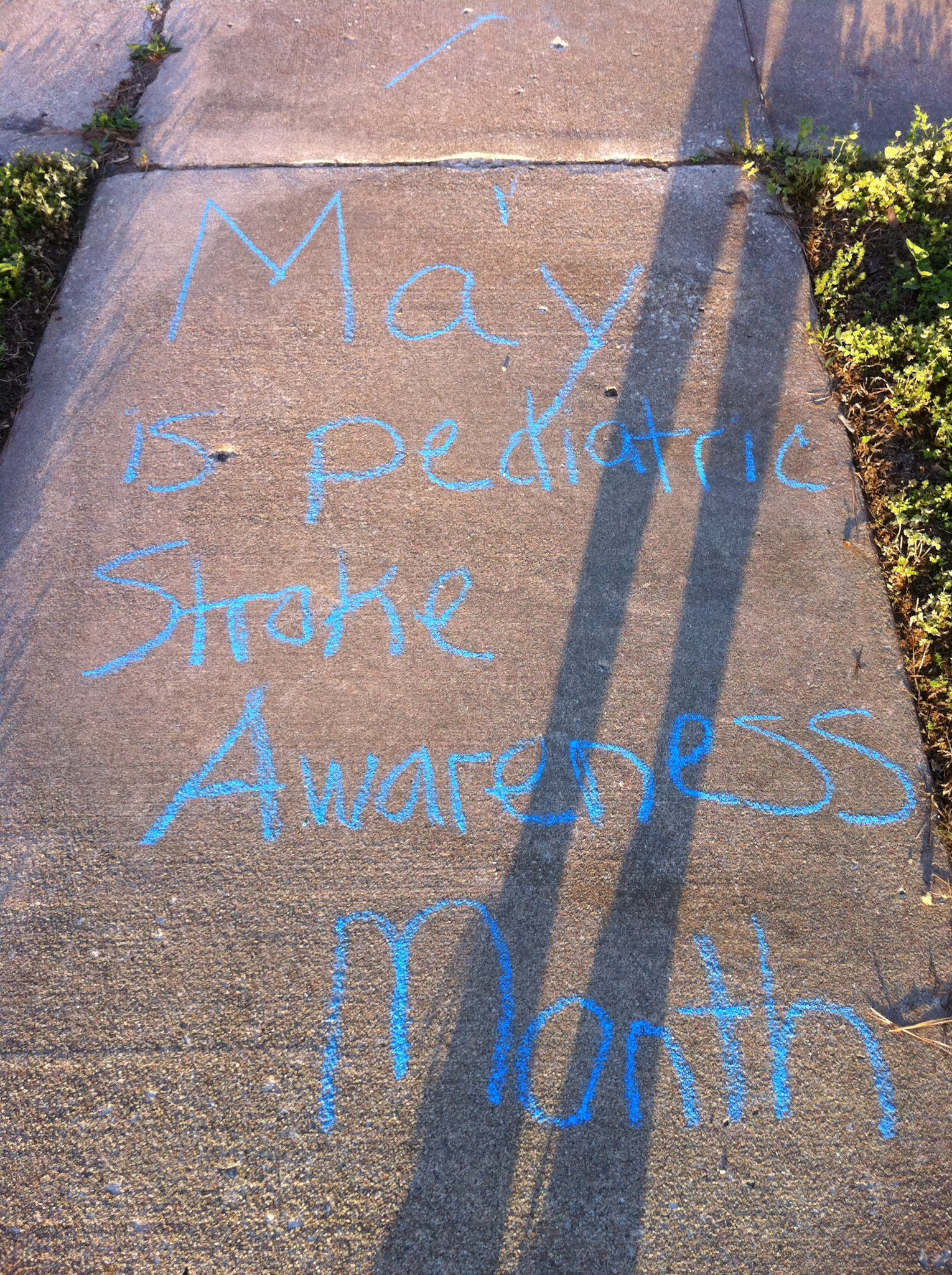 Pediatric Stroke Streak – Sidewalk + Chalk