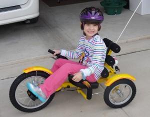 Gabriella, Pediatric Stroke Survivor Rides Bike