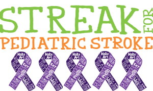 Streak for Pediatric Stroke Awareness Month