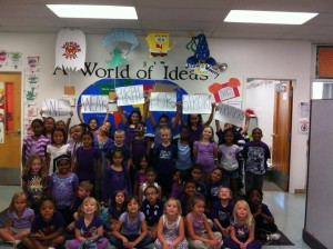 amelia perry students purple photo